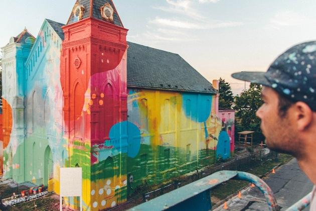Washington-D.C.-Graffiti-Covered-Church-by-Hense-7