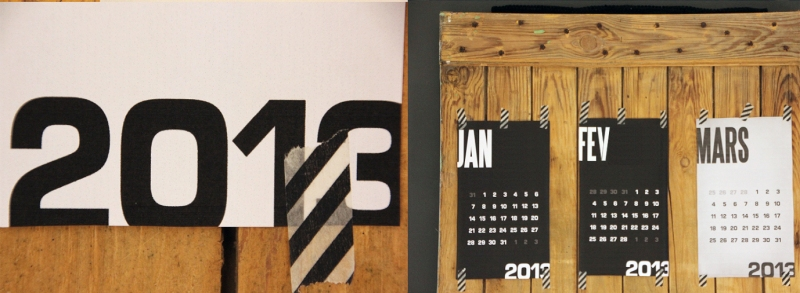 Calendrier collage Regards et Maisons 2013
