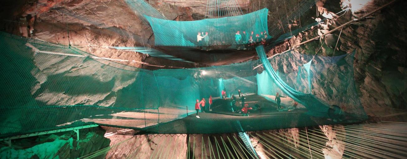 Bounce Below - Llechwedd Slate Caverns - 1